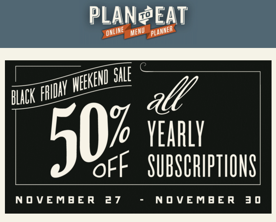 Plan To Eat Cyber Monday Deal