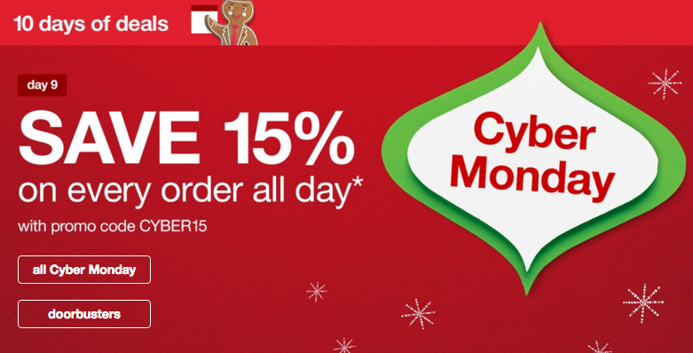 Target Cyber Monday Coupon Code