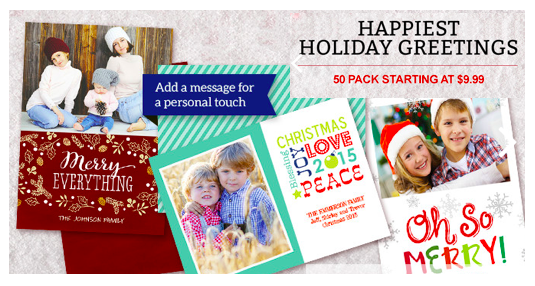 Staples Holiday Photo Cards Cyber Monday Deal