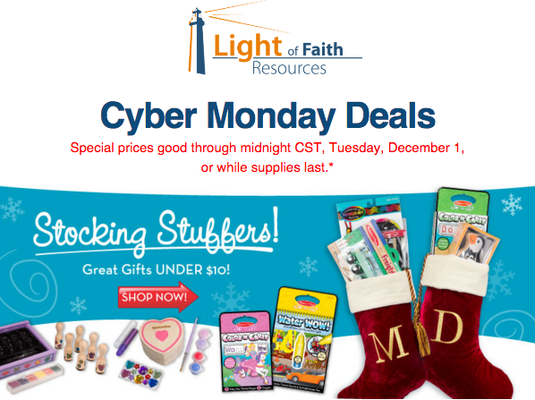 Light of Faith Resources Cyber Monday Sale