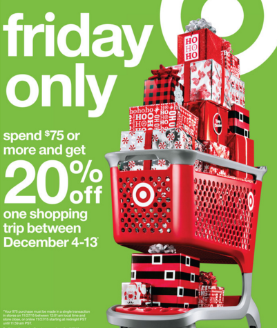 Target Black Friday 20% Off Coupon