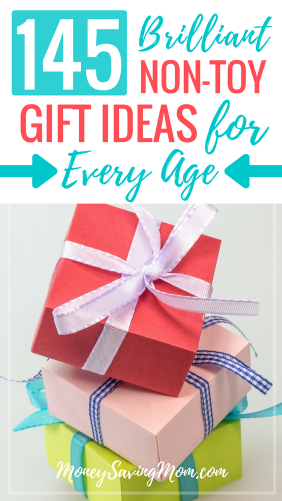 Need creative non-toy gift ideas for kids of all ages? Check out this HUGE list of unique ideas for birthdays, Christmas, and more!