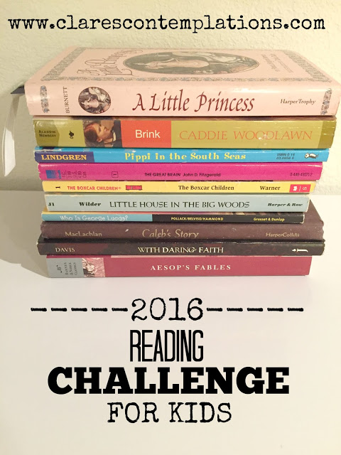 2016 Reading Challenge for KIds