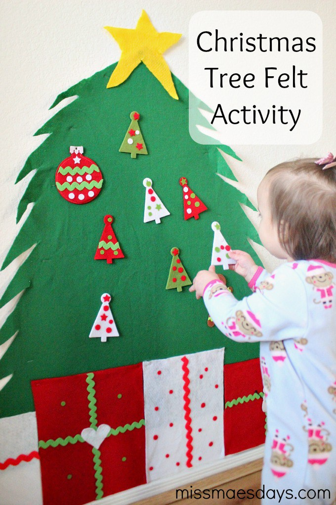 DIY Christmas Tree Felt Activity for Kids