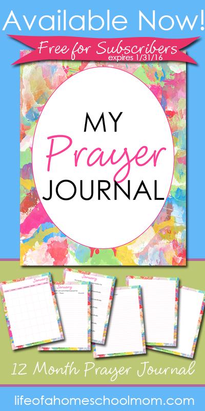 Free 12 Month Printable Prayer Journal