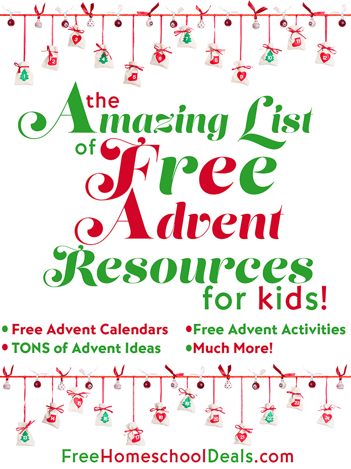 Nursery Christmas Calendar Ideas : Huge list of free advent resources for kids money saving