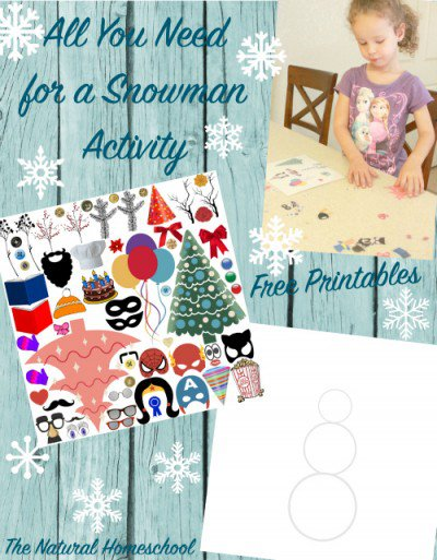 Free All You Need for a Snowman Activity Printable Pack