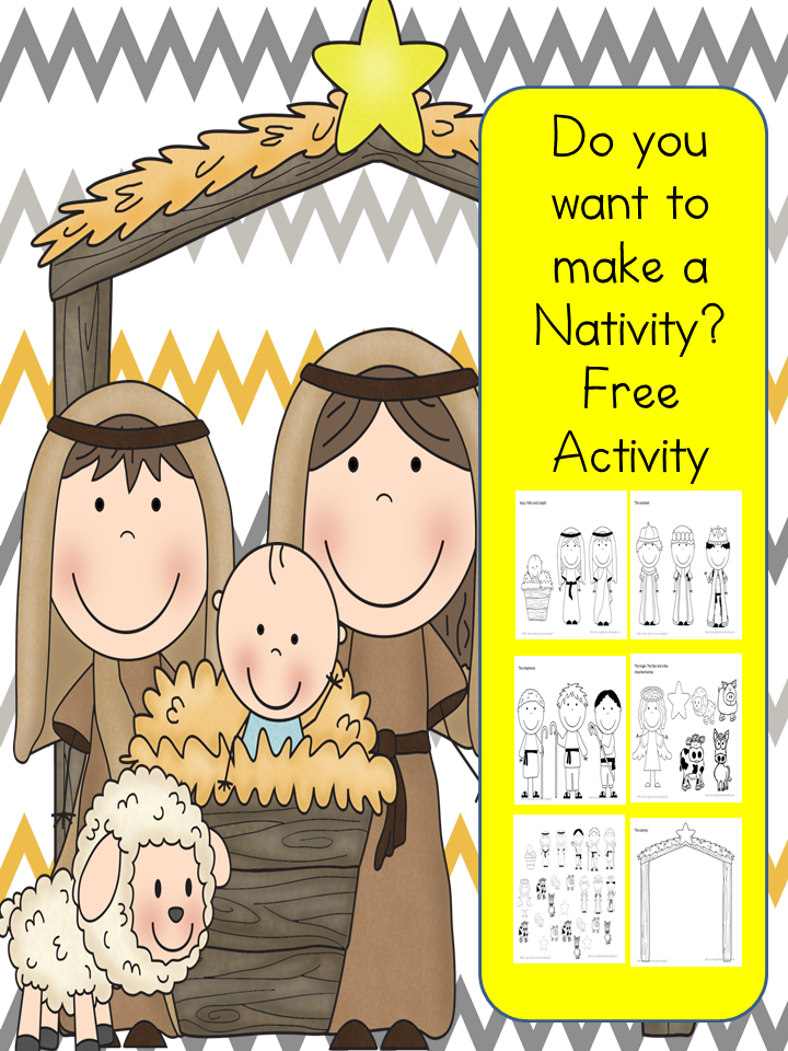 image relating to Nativity Printable identified as Totally free Create a Nativity Printable for Small children Dollars Preserving Mother