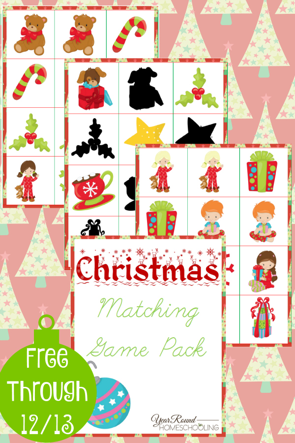 Free Christmas Matching Game