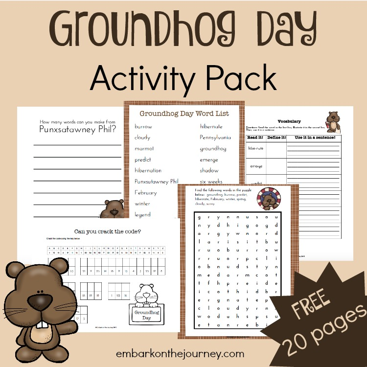 Free Groundhog Day Printable Pack