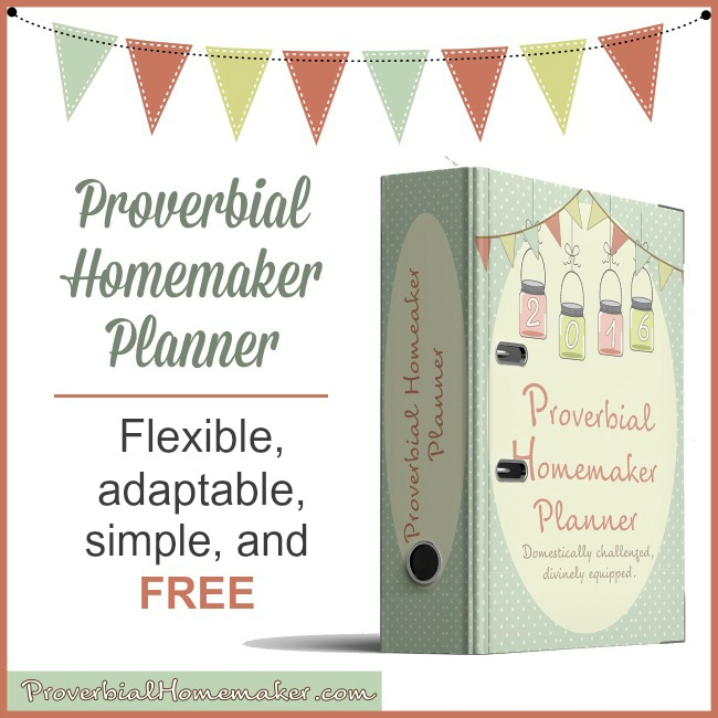 Free Printable Homemaking Planner Money Saving Mom