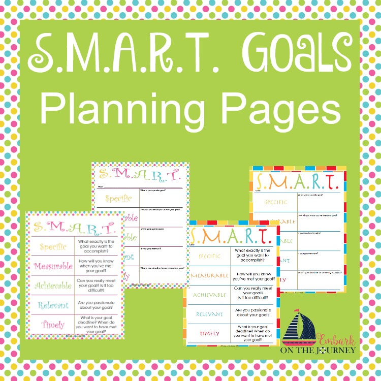 Free Kids SMART Goals Planning Pages