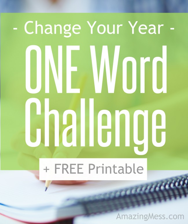 Free One Word Challenge Printable