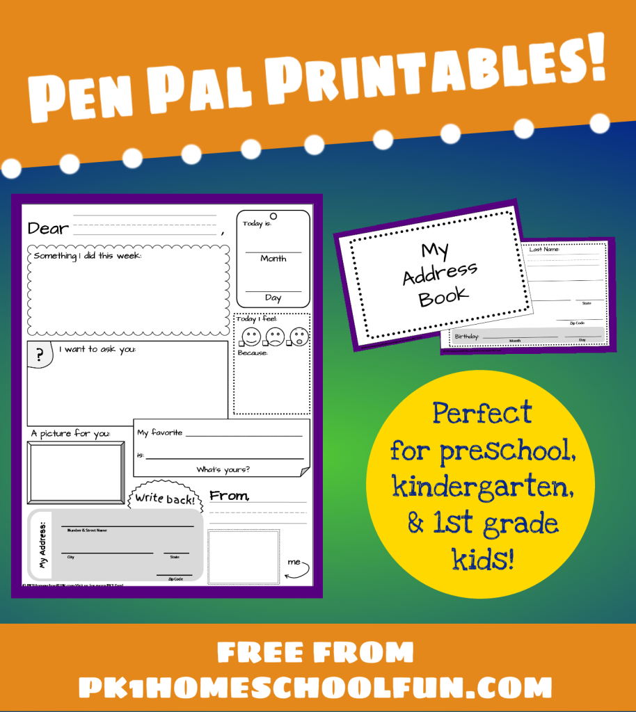 Free Pen Pal Printables for Kids - Money Saving Mom®