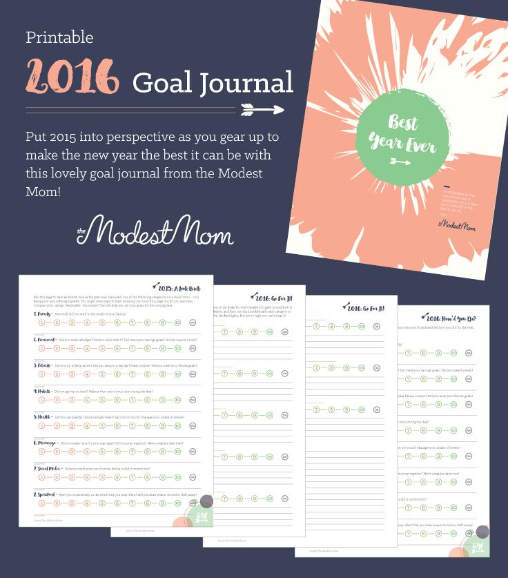 Free Printable Goal Planning Printable for 2016