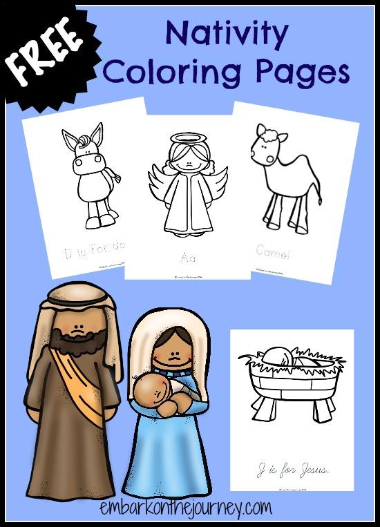 Free Printable Nativity Coloring