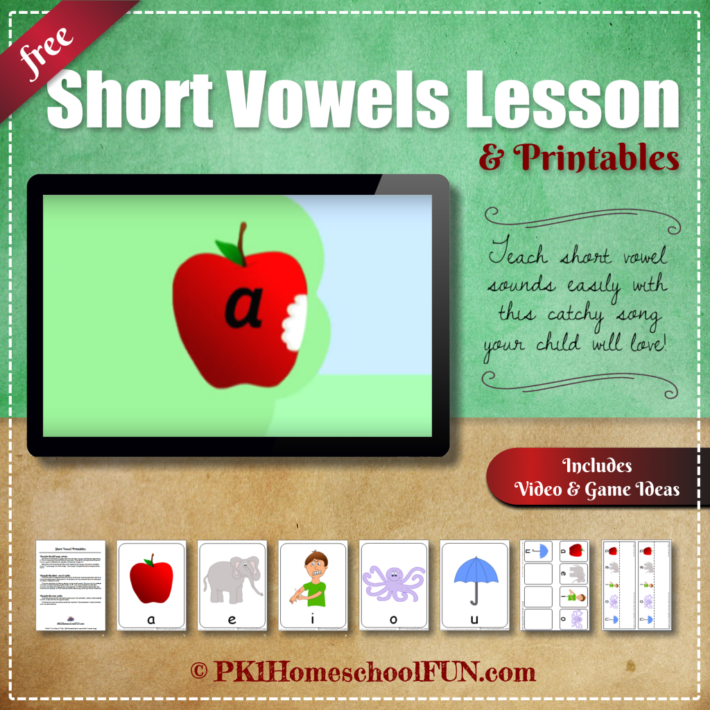 Free Short Vowels Lesson and Printable