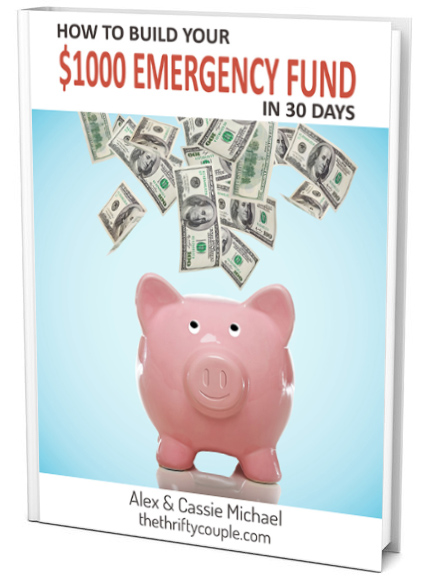 Free eBook- How to Build Your $1,000 Emergency Fund in 30 Days