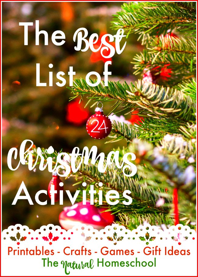 List of 24 Christmas Activities for Kids