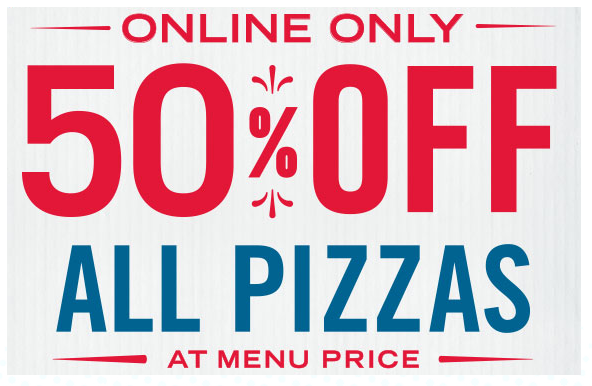 50% off at Domino's Pizza