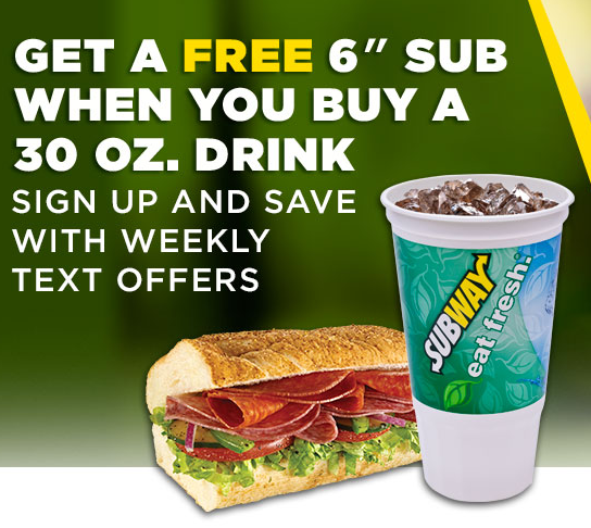 Free Subway Sandwich