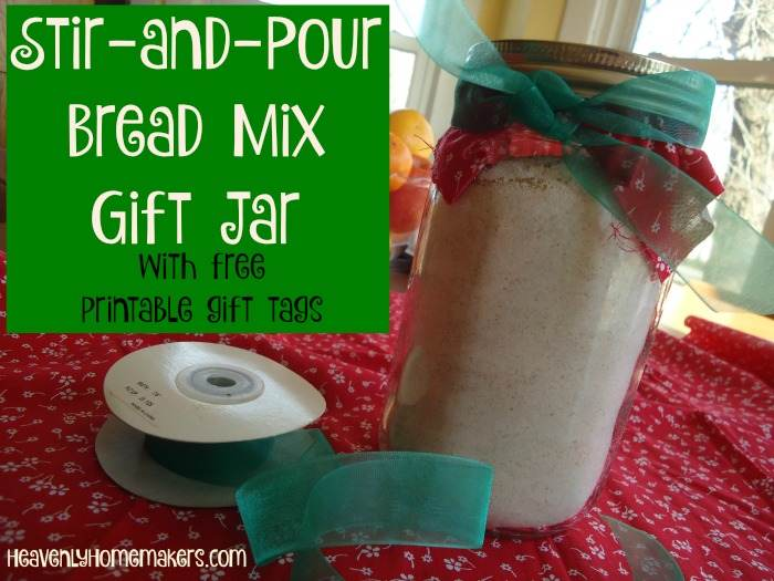 Stir and Pour Bread Mix Gift Jar