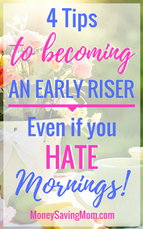 Make the most of your mornings with these helpful tips! You'll rise earlier and have a more productive day as a result!