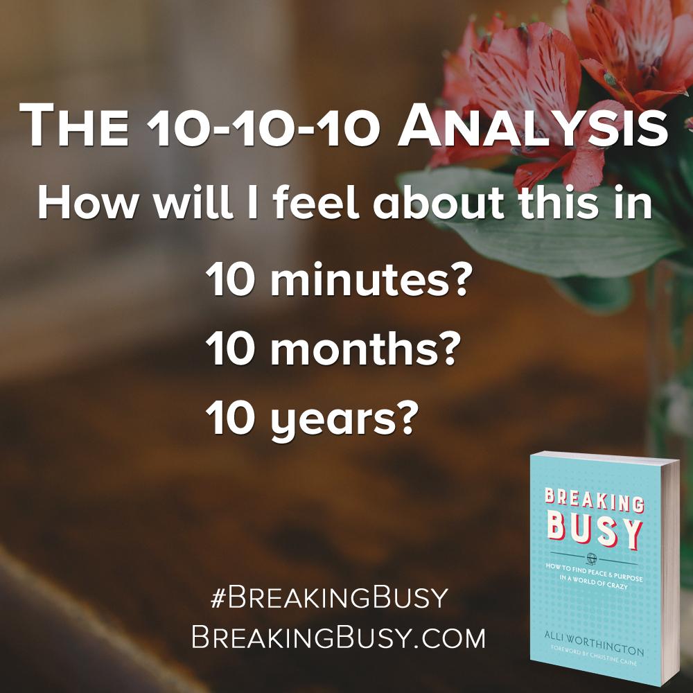 The 10-10-10 Analysis