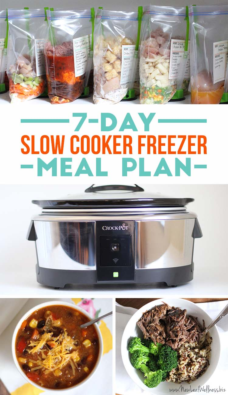 Free money saving weekly meal plans printable plans with family - Free 7 Day Slow Cooker Freezer Meal Plan