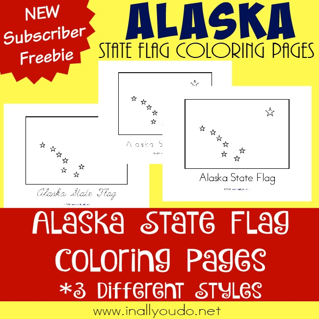 alaska flag coloring pages - photo#18