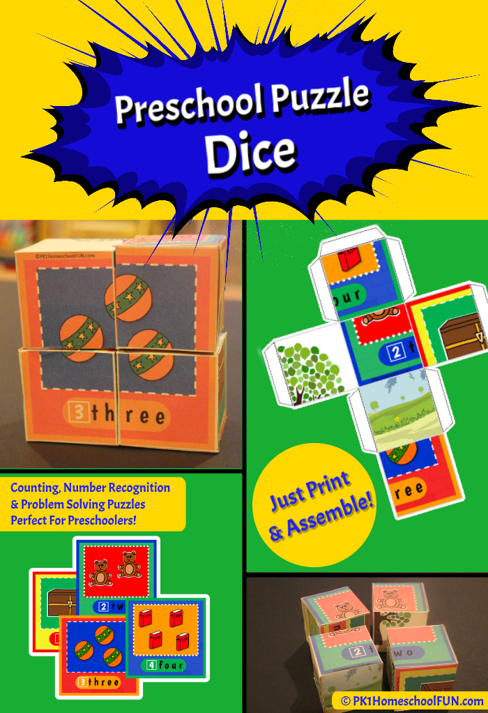 Free Printable Puzzle Dice