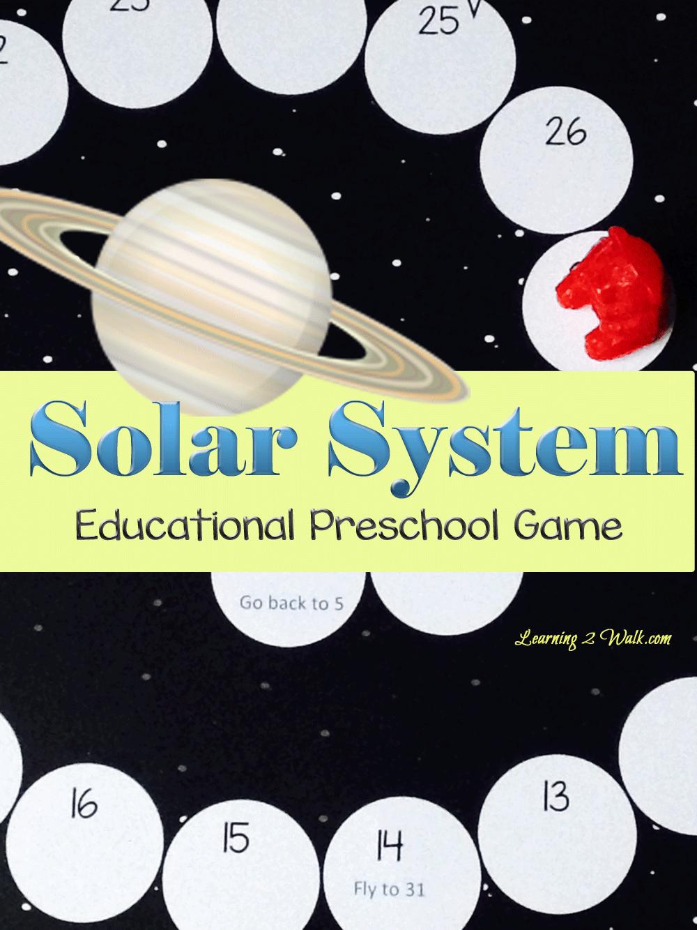 Free Printable Solar System Educational Preschool Game ...