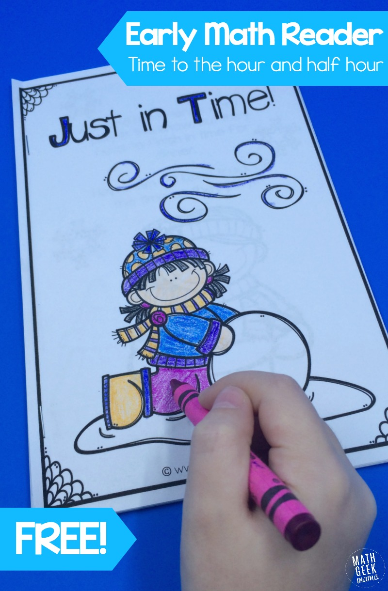 Free Printable Telling Time Early Math Reader