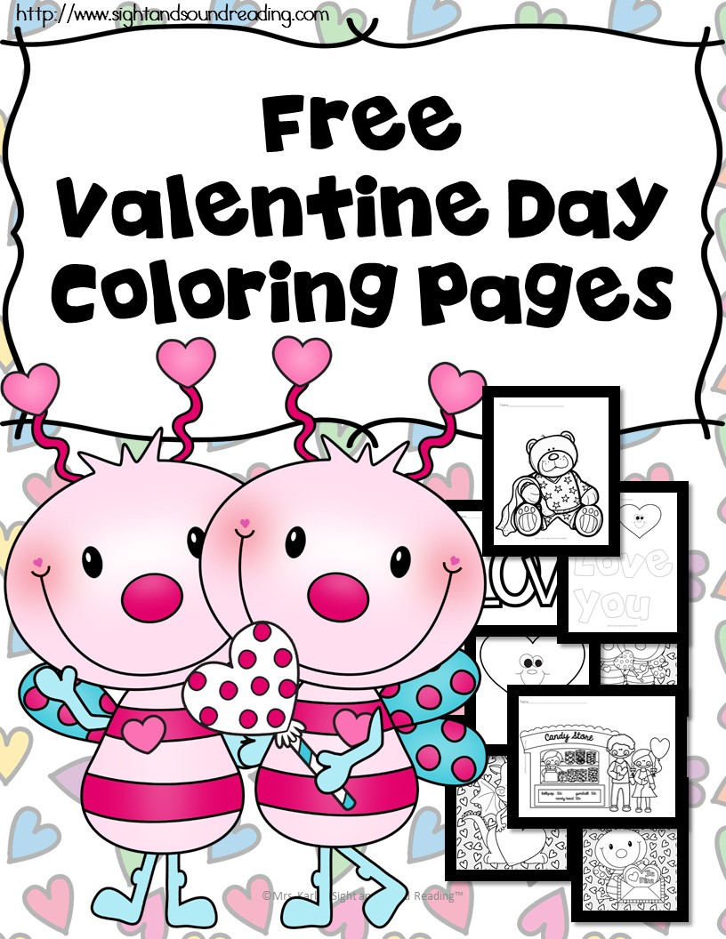 Free Printable Valentine's Day Coloring Pages - Money ...