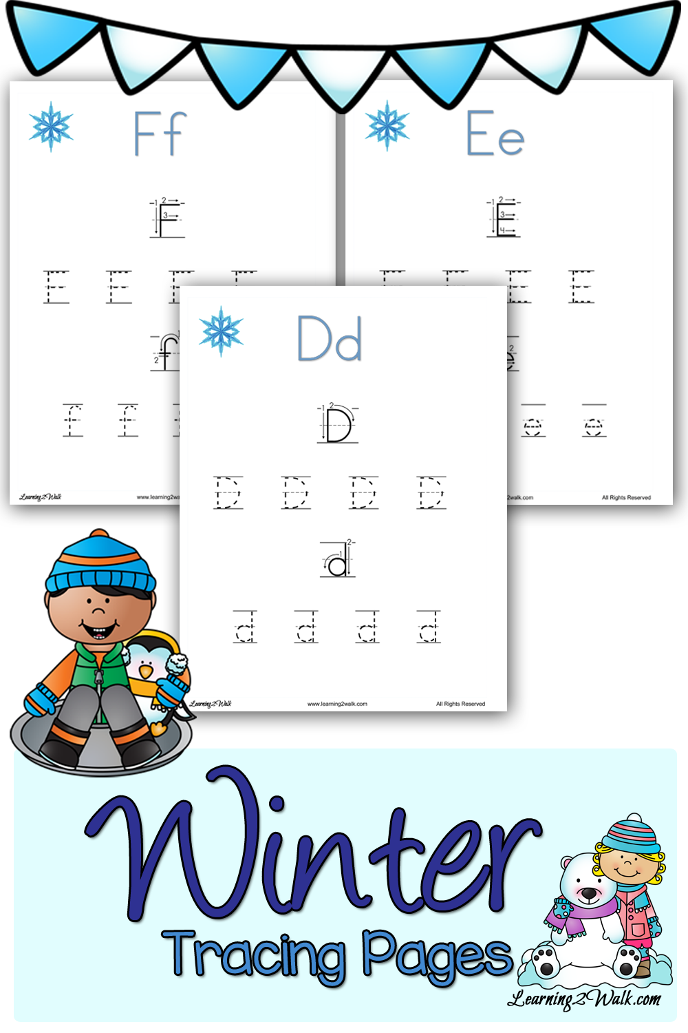 Free Printable Winter Tracing Pages