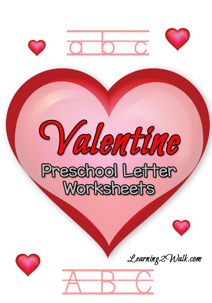 Free Valentine Preschool Letter Worksheets Printable Pack - Money ...