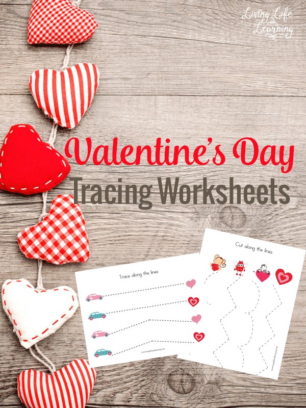 Free Valentine's Day Tracing Worksheets