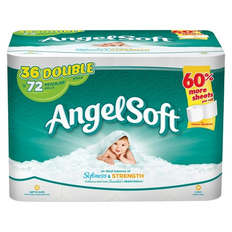 Get Angel Soft Toilet Paper for just $0.28 per double roll at Target right now!