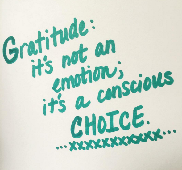 Gratitude is a choice