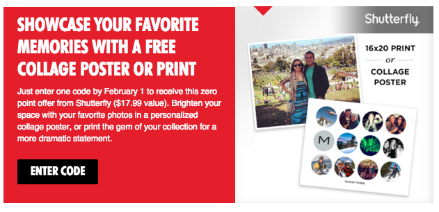 Get a free 16x20 Shutterfly photo print from My Coke Rewards right now!