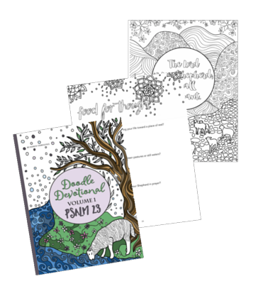 photograph regarding Psalm 23 Printable titled Absolutely free Printable Psalm 23 Doodle Devotional Coloring Internet pages