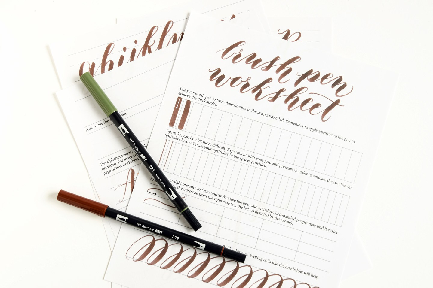 Free printable Brush Pen Calligraphy printable worksheets Money – Free Calligraphy Worksheets