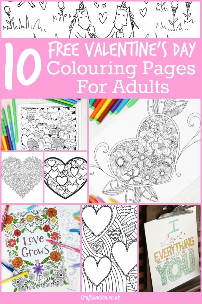 10 Free Valentine's Day Adult Coloring Pages