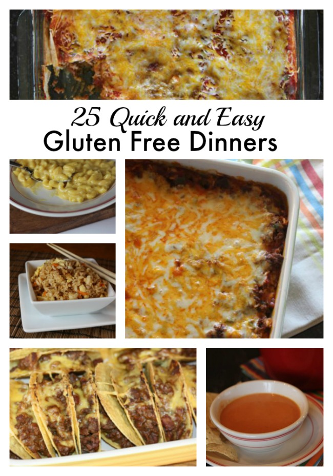 com has a great list of 25 quick and easy gluten free dinner recipes