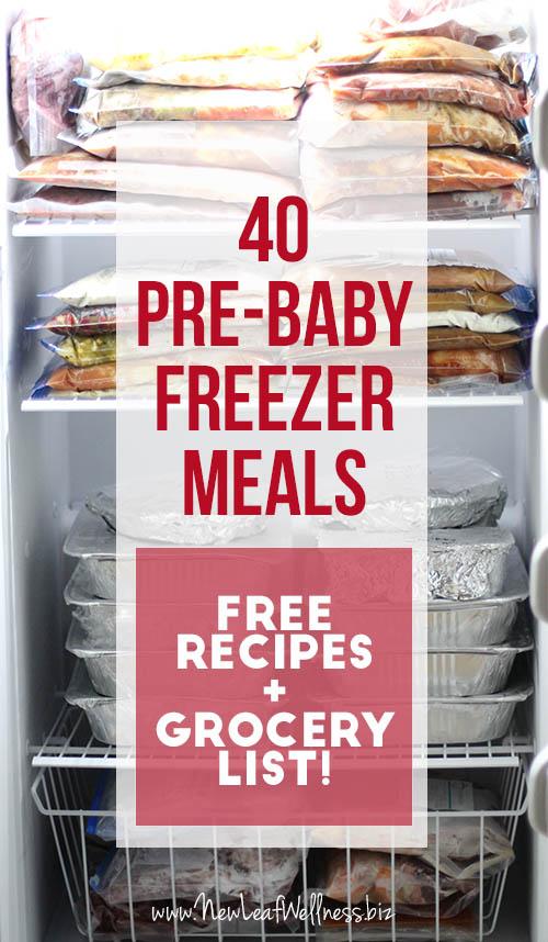 40 Pre-Baby Freezer Meals