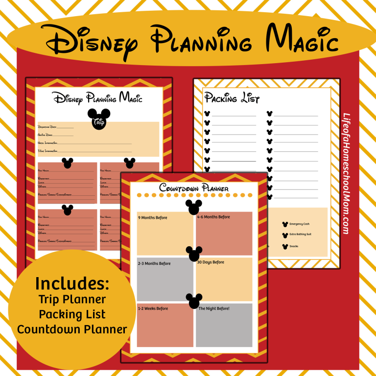 Free Printable Disney Trip Planning Kit - Money Saving Mom® : Money ...