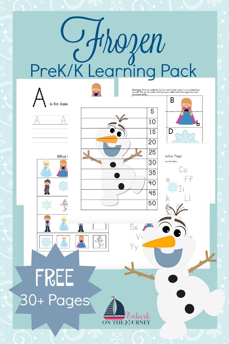 Free Frozen Printable Preschool Pack