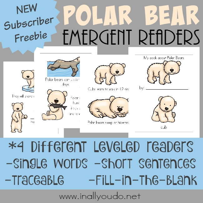 Free Life of a Polar Bear Emergent Readers Printable