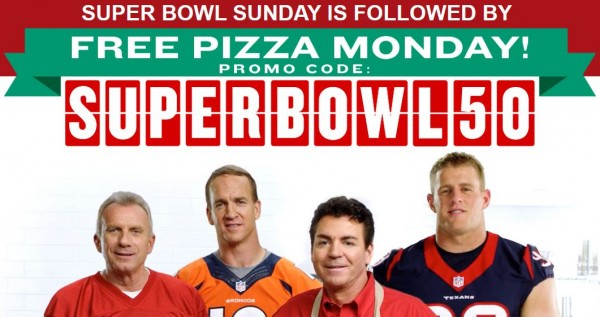 Free Pizza at Papa John's with $15 Purchase!