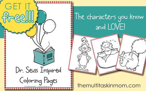 Free Printable Dr. Seuss Coloring Pages